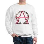 Alpha & Omega Anarchy Symbol Sweatshirt