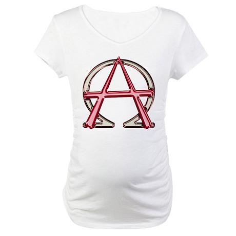 Alpha & Omega Anarchy Symbol Maternity T-Shirt
