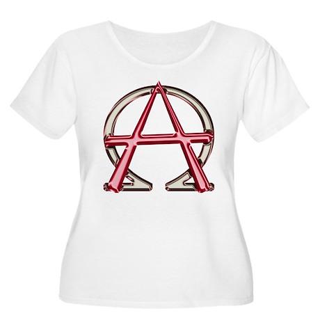 Alpha & Omega Anarchy Symbol Women's Plus Size Sco