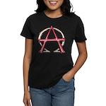Alpha & Omega Anarchy Symbol Women's Dark T-Shirt