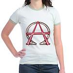 Alpha & Omega Anarchy Symbol Jr. Ringer T-Shirt