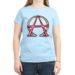 Alpha & Omega Anarchy Symbol Women's Light T-Shirt