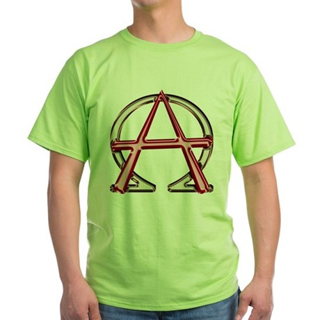 Alpha & Omega Anarchy Symbol Green T-Shirt