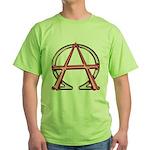 Alpha & Omega Anarchy Symbol Green T-Shirt
