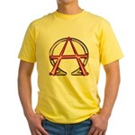 Alpha & Omega Anarchy Symbol Yellow T-Shirt