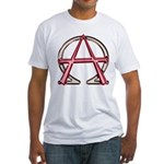 Alpha & Omega Anarchy Symbol Fitted T-Shirt