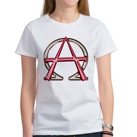 Alpha & Omega Anarchy Symbol Women's T-Shirt