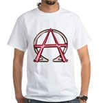 Alpha & Omega Anarchy Symbol White T-Shirt