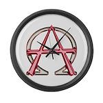 Alpha & Omega Anarchy Symbol Large Wall Clock