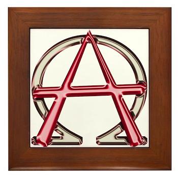 Alpha & Omega Anarchy Symbol Framed Tile
