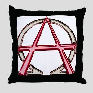 Alpha & Omega Anarchy Symbol Throw Pillow