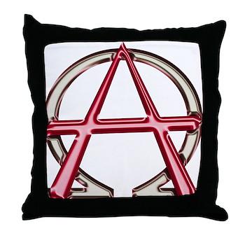 Alpha Omega Anarchy Symbol Throw Pillow Christian Alpha And