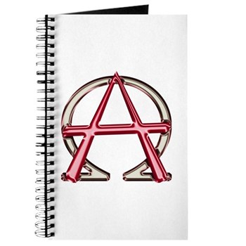 Alpha & Omega Anarchy Symbol Journal