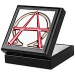 Alpha & Omega Anarchy Symbol Keepsake Box