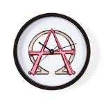 Alpha & Omega Anarchy Symbol Wall Clock