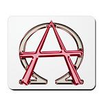 Alpha & Omega Anarchy Symbol Mousepad
