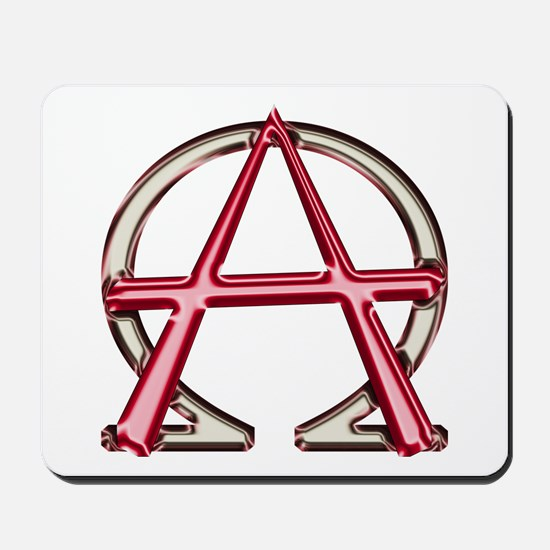 Alpha & Omega Anarchy Symbol Mousepad