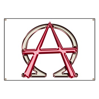 Alpha Omega Anarchy Symbol Banner Christian Alpha And Omega