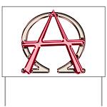 Alpha & Omega Anarchy Symbol Yard Sign