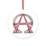 Alpha & Omega Anarchy Symbol Ornament (Round)
