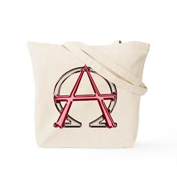 Alpha & Omega Anarchy Symbol Tote Bag