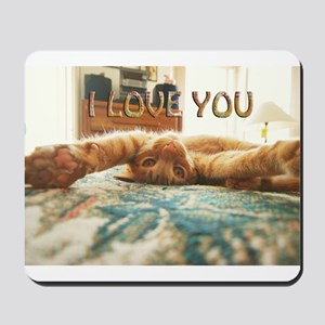 Love You Cat Mousepad