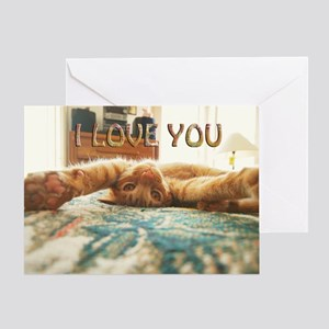 Love You Cat Greeting Card