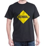 School Sign Black T-Shirt