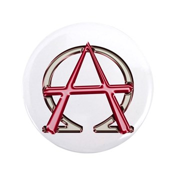 Alpha Omega Anarchy Symbol 100 Large Buttons Christian Alpha And