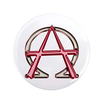 Alpha & Omega Anarchy Symbol Large Button