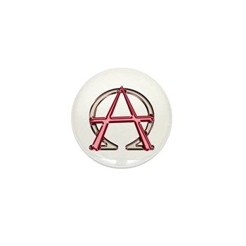 Alpha & Omega Anarchy Symbol 100 Mini Buttons