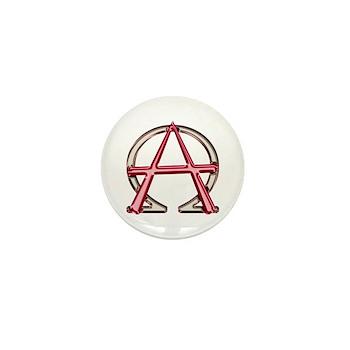 Alpha & Omega Anarchy Symbol 10 Mini Buttons