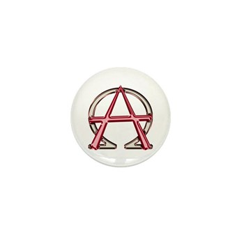 Alpha & Omega Anarchy Symbol Mini Button