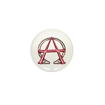 Alpha & Omega Anarchy Symbol Mini Button