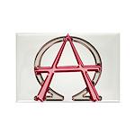 Alpha & Omega Anarchy Symbol 100 Rectangle Mag