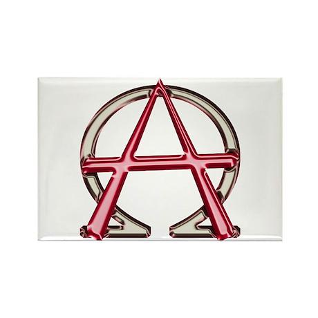 Alpha & Omega Anarchy Symbol Rectangle Magnet