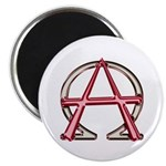 Alpha & Omega Anarchy Symbol 100 Round Magnets