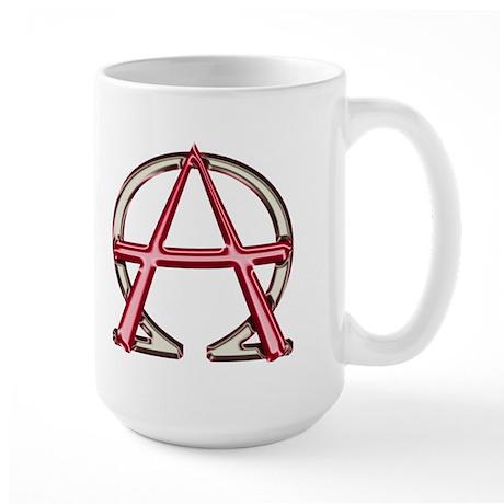 Alpha & Omega Anarchy Symbol Large Mug
