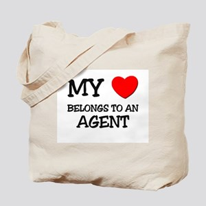 My Heart Belongs To An AGENT Tote Bag