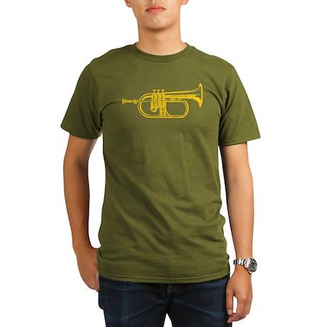 """Brass"" Trumpet Organic Men's T-Shirt (dark)"