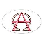 Alpha & Omega Anarchy Symbol 10 Oval Stickers