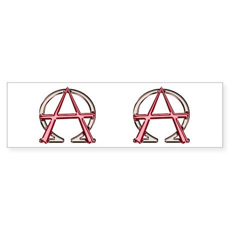 Alpha & Omega Anarchy Symbol Bumper Sticker