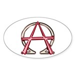 Alpha & Omega Anarchy Symbol Oval Sticker
