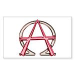 Alpha & Omega Anarchy Symbol Sticker (Rectangl