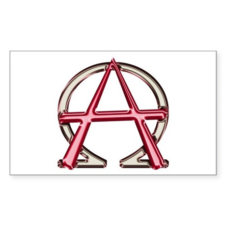 Alpha & Omega Anarchy Symbol Sticker (Rectangl