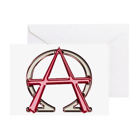 Alpha & Omega Anarchy Symbol Greeting Card