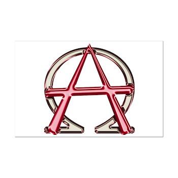 Alpha & Omega Anarchy Symbol Mini Poster Print