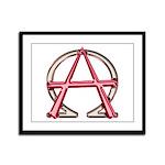 Alpha & Omega Anarchy Symbol Framed Panel Prin