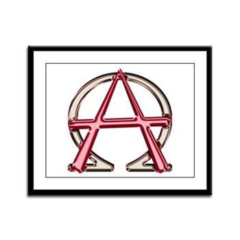 Alpha & Omega Anarchy Symbol Framed Panel Prin