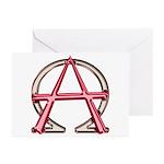 Alpha & Omega Anarchy Symbol 10 Greeting Cards